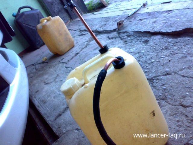 Замена масла в АКПП методом замещения Mitsubishi Lancer 9 (5)
