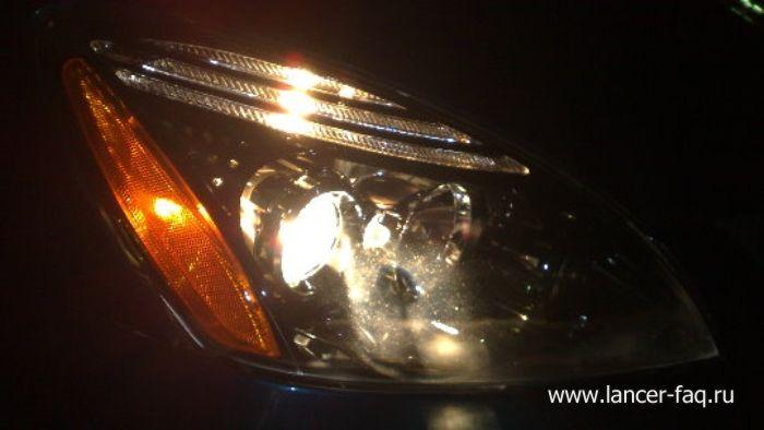 Модификация нештатной оптики Mitsubishi Lancer (2)