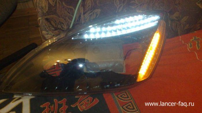 Модификация нештатной оптики Mitsubishi Lancer (3)