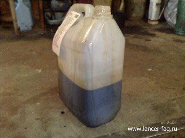 Замена масла в АКПП Mitsubishi Lancer 9 (4)
