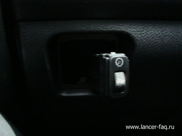 Замена ламп кнопок ПТФ, регулировки подсветки и корректора Mitsubishi Lancer 9 (1)
