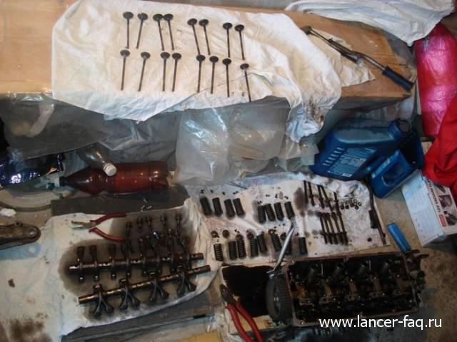 Замена колец и колпачков Lancer IX 1.6 (10)