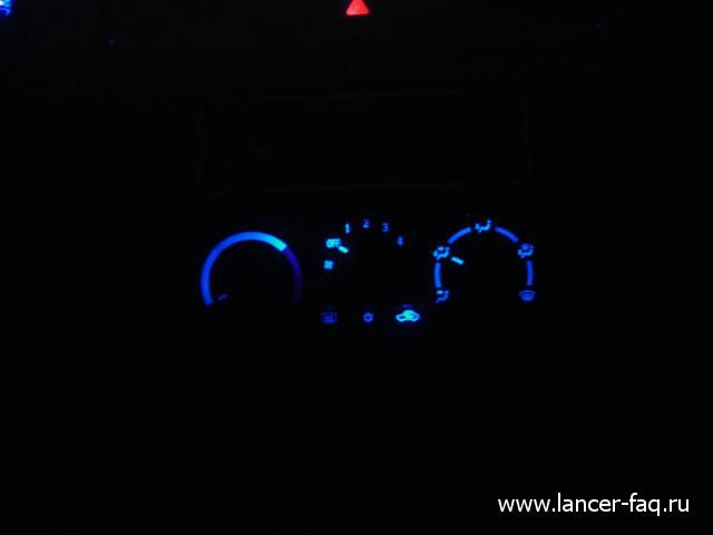 Замена ламп управления печкой Lancer IX (1)