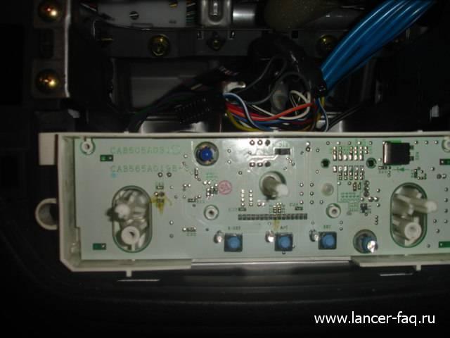 Замена ламп управления печкой Lancer IX (5)