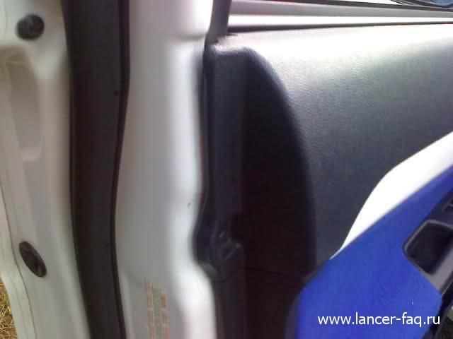 Снятие обшивки передней двери Mitsubishi Lancer X 05